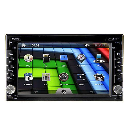 6.2inch Универсальный 2 Дин В-Dash DVD-плеер автомобиля с GPS, BT, IPOD, FM, RDS, сенсорный экран