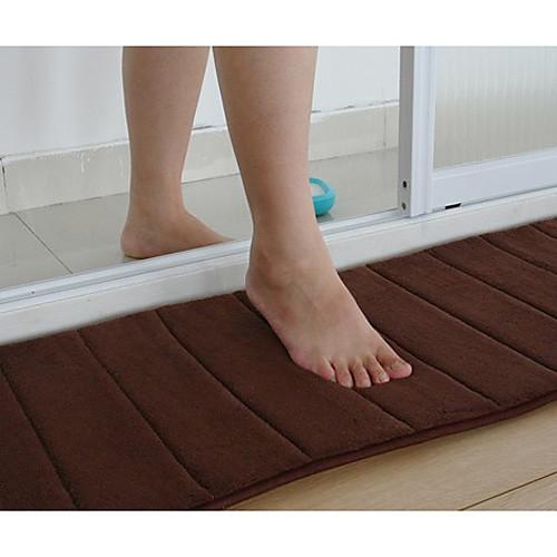 Коврик для ванной Memory Foam коричневые полоски 16 х 24