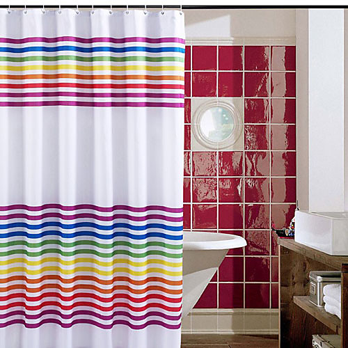 Полиэстер Shower Curtain Радуга Печатный белом фоне Lightinthebox 1460.000