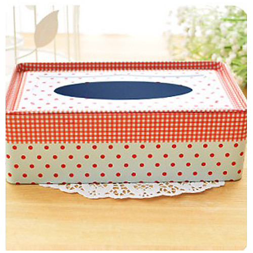 Современный стиль Красные пятна Железный Tissue Box Lightinthebox 429.000