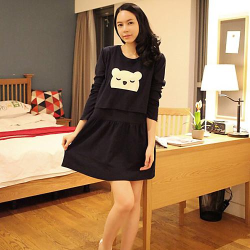 Материнство Медведь печати мини-платье Lightinthebox 977.000