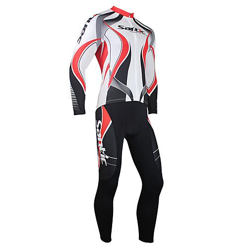 Мужской велосипедный флисовый термо-костюм (красно-белый) Lightinthebox 2577.000