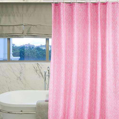 Душ занавес полиэстер розовый Curve Печать плотной ткани водоустойчивые W71