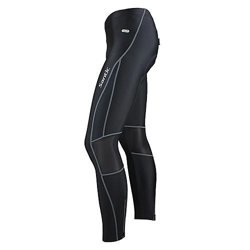 Santic-мужские черные брюки Полиамид велосипед Lightinthebox 1288.000