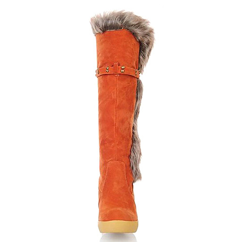 Женские колено высокие меховые сапоги пряжкой Lightinthebox 1890.000