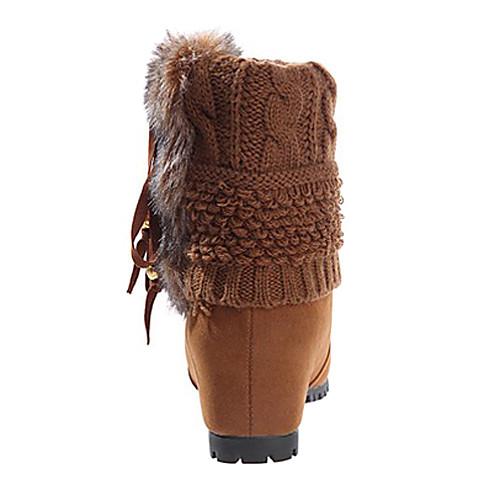 Женские короткие сапожки с вязанным голенищем и тесьмой Lightinthebox 1374.000