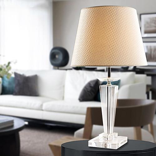 Современные Краткой K9 Кристалл Настольная лампа Лен Shade Lightinthebox 5156.000