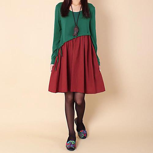 Материнство Контрастность Цвет Сращивание струнного мини платье Lightinthebox 1256.000