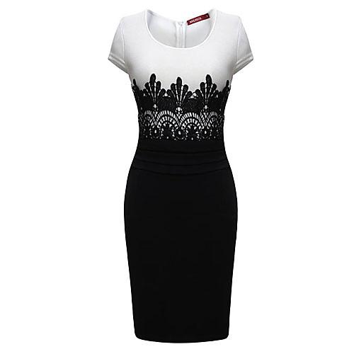 Миди-платье фасона бодикон с кружевной отделкой Lightinthebox 1088.000