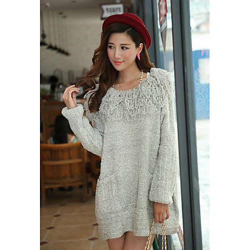 Женская мода Tassles воротник свитера