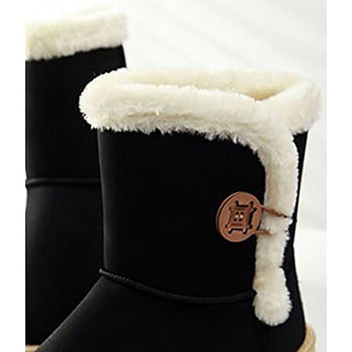 Женские зимние ботинки на пуговице, отороченные мехом Lightinthebox 1546.000