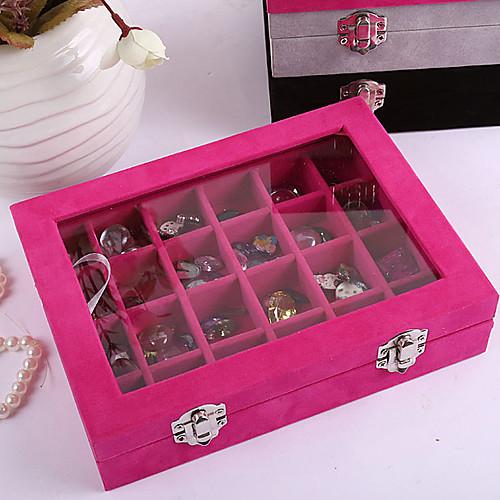 Деревянная коробка для хранения драгоценностей, 24 отсека (дерево) Lightinthebox 837.000