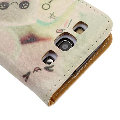 Шаблон Мультфильм Зефир Рисование искусственной кожи жесткие пластиковые крышки сумки для Samsung Galaxy S3 I9300 Lightinthebox 343.000