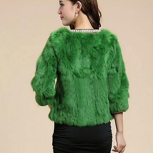 Половина рукава воротника партии меха кролика / Повседневные куртки (другие цвета) Lightinthebox 5104.000