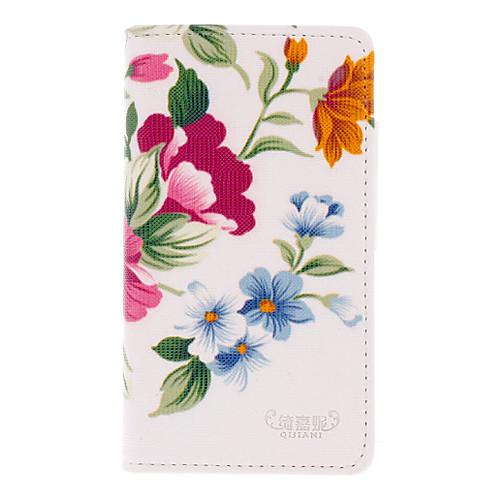 Три цвета цветов Рисование шаблон PU кожа кожа пластичная трудная задняя сторона обложки чехлы для Samsung Galaxy Ace S5830 Lightinthebox 386.000