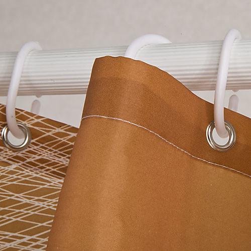 Полиэстер Shower Curtain оранжевые круги Распечатать Водонепроницаемость плотной ткани W71