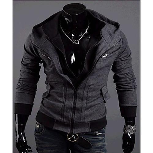 REVERIE UOMO Мужские темно-серого цвета Контрастность свитера Hoodie Lightinthebox 987.000