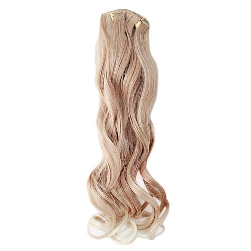 Kanekalon волоконно-Layer 7 Длинные вьющиеся Зажим-в выдвижении волос (Золотой) Lightinthebox 1589.000