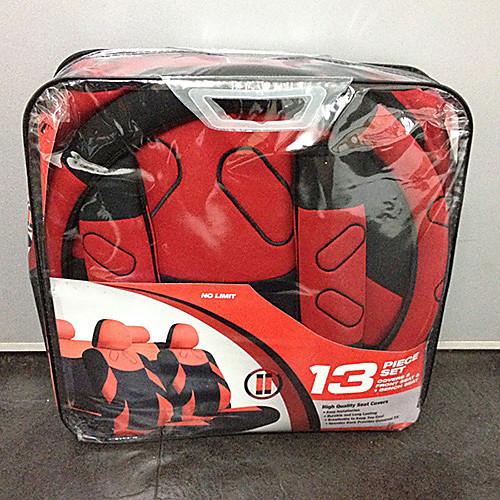 Чехлы на сиденья автомобиля черно-красной расцветки (в комплекте 13 предметов) Lightinthebox 1761.000