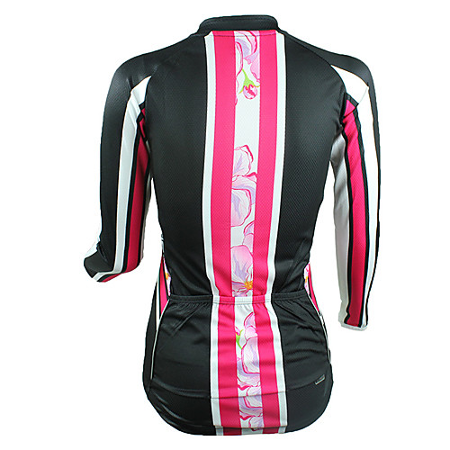 100% полиэстер Santic-женщины с длинным рукавом куртки Цветочные Велоспорт Pattern Lightinthebox 1288.000