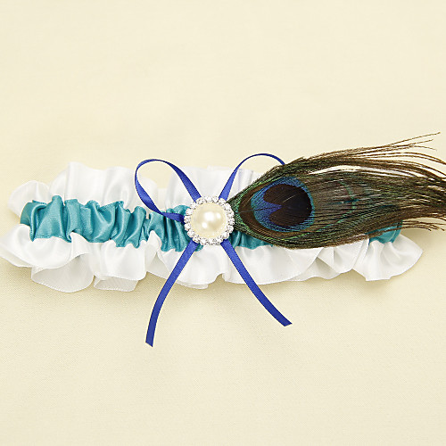 Синяя полоса с павлиньим пером Белая подвязка Lightinthebox 246.000