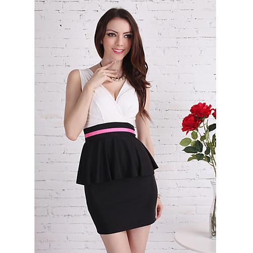 TS Простота Малый язвительный Цветовой контраст платье Lightinthebox 977.000