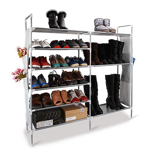 Стойка для обуви белая металлическая 6-уровневая двухрядная Lightinthebox 2577.000