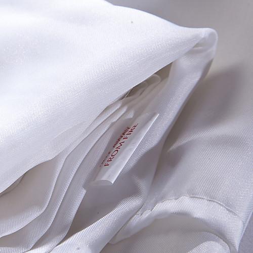 Душевая занавеска высокого класса Полиэстер насыщенный Белый плотной ткани водоустойчивые W71