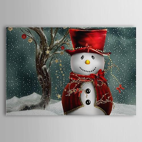 Натянутым холстом Искусство Праздник Рождество Снеговик Lightinthebox 1503.000