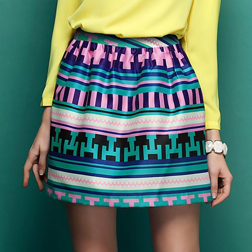 TS Vintage полоса Тонкий Cut линии юбки Lightinthebox 977.000