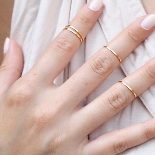 Горячая сплава позолоченный Тонкий блестящий кольцо Lightinthebox 192.000