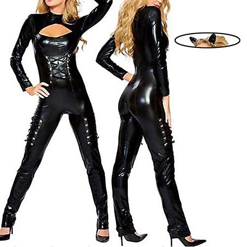 Сексуальная Женщина-кошка Черная Кожа PU Костюм женский Lightinthebox 1288.000