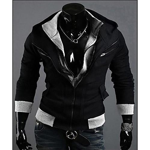REVERIE UOMO Мужская Черный Цветовой контраст свитера Hoodie Lightinthebox 944.000