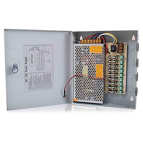 12V DC 9ch 10 А Блок источника питания для камер видеонаблюдения безопасности Lightinthebox 1718.000