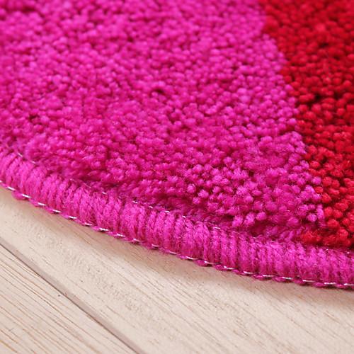 Коврик в ванну в форме радужного сердца из полиэфирного микроволокна, размеры 20x24