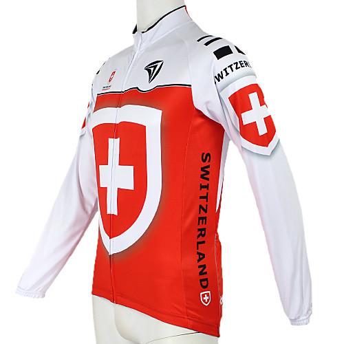 Kooplus2013 Чемпионат Швейцарии Джерси 100% полиэфирных волокон Wicking Велоспорт Рубашка с отражающей лентой Lightinthebox 1718.000