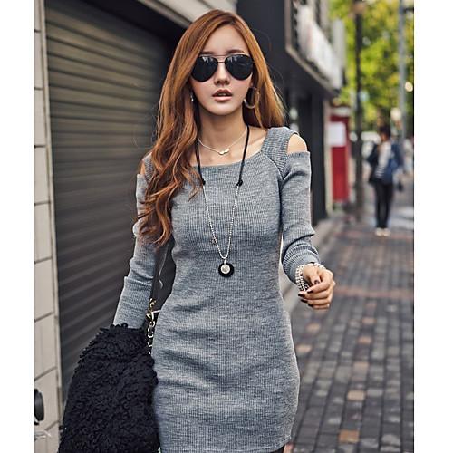 Женская Чистая вырез мини-платье Lightinthebox 669.000
