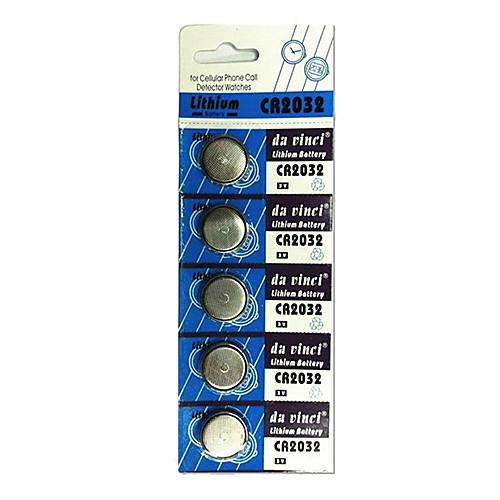 5 шт CR2032 3V серебряные кнопки сотового литиевая батарея Lightinthebox 128.000