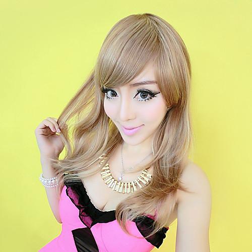 100% человеческих волос Супер красоты блондинка японском стиле вьющимися парик Lightinthebox 5413.000