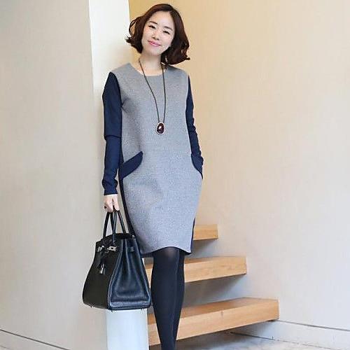 Материнство Контрастность Цвет оболочки мини платье Lightinthebox 1144.000