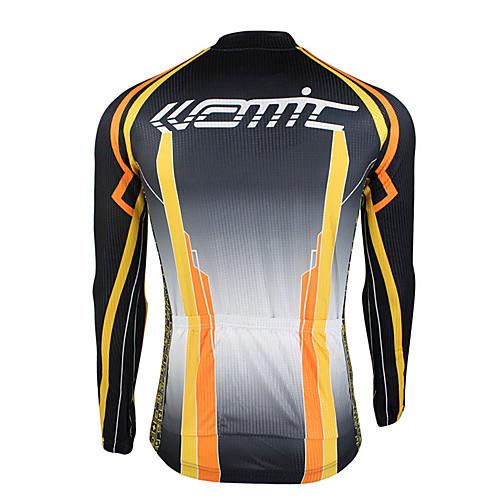 100% полиэстер Santic-мужская с длинным рукавом Велоспорт Зимние куртки Lightinthebox 1718.000