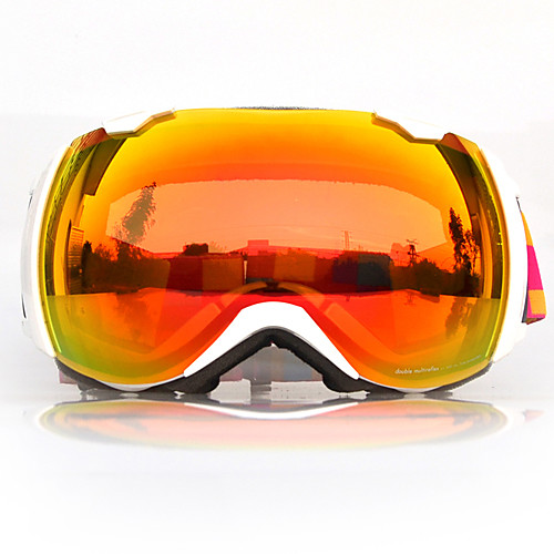 BASTO Лыжные защитные очки в белой оправе с оранжевыми зеркальными линзами Lightinthebox 2148.000