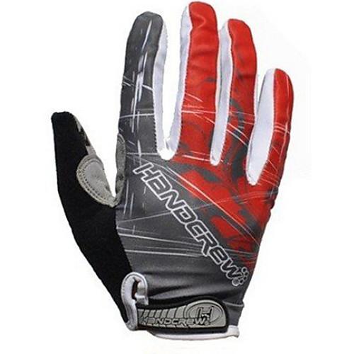 Handcrew Спортивные перчатки Перчатки для велосипедистов Дышащий Сохраняет тепло Пригодно для носки Полный палец Зима Синтетическая кожа Лайкра Гель, Белый