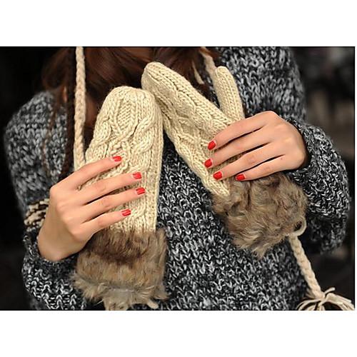 Толстые теплые вязаные перчатки Lightinthebox 429.000