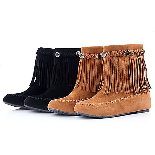 Женские классические короткие зимние ботинки с бахромой Lightinthebox 1503.000