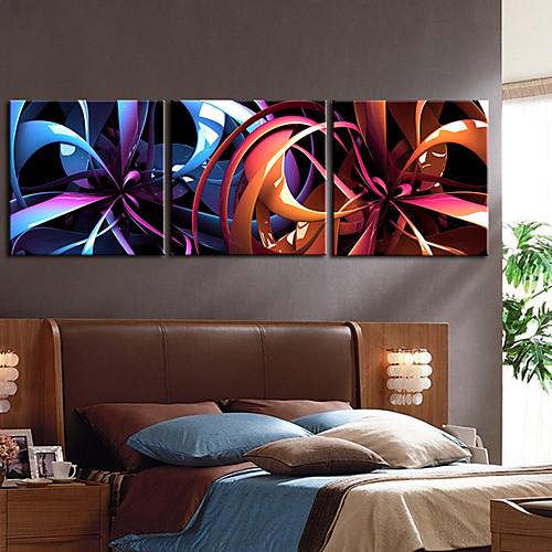 Натянутым холстом печати Art Абстрактная Фэнтези Цветок 3 Lightinthebox 2792.000