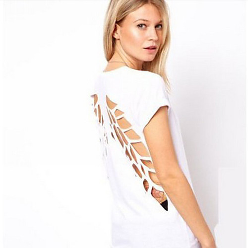 Женская футболка с разрезом в виде крыльев на спине Lightinthebox 502.000