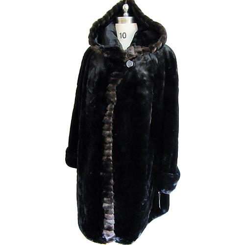 Длинным рукавом с капюшоном искусственного меха партии / случайных пальто Lightinthebox 4949.000