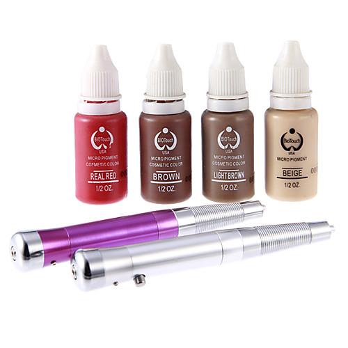 2шт Татуировка Перманентный макияж Pen Set с четырьмя цветными чернилами Lightinthebox 3437.000