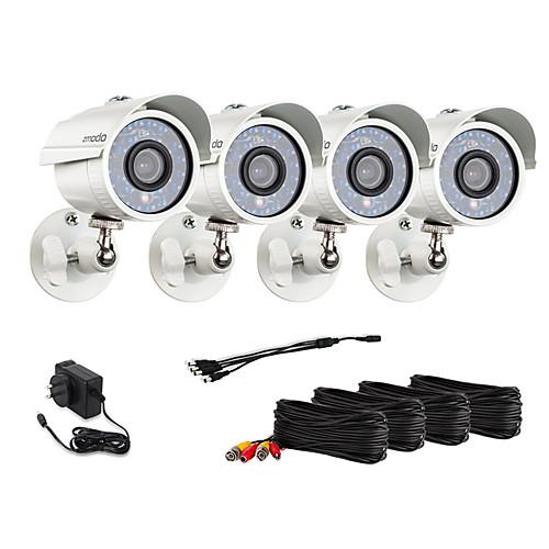 Zmodo 4 пули Открытый 700TVL ночного видения CCTV камеры наблюдения Безопасность Kit Lightinthebox 3695.000